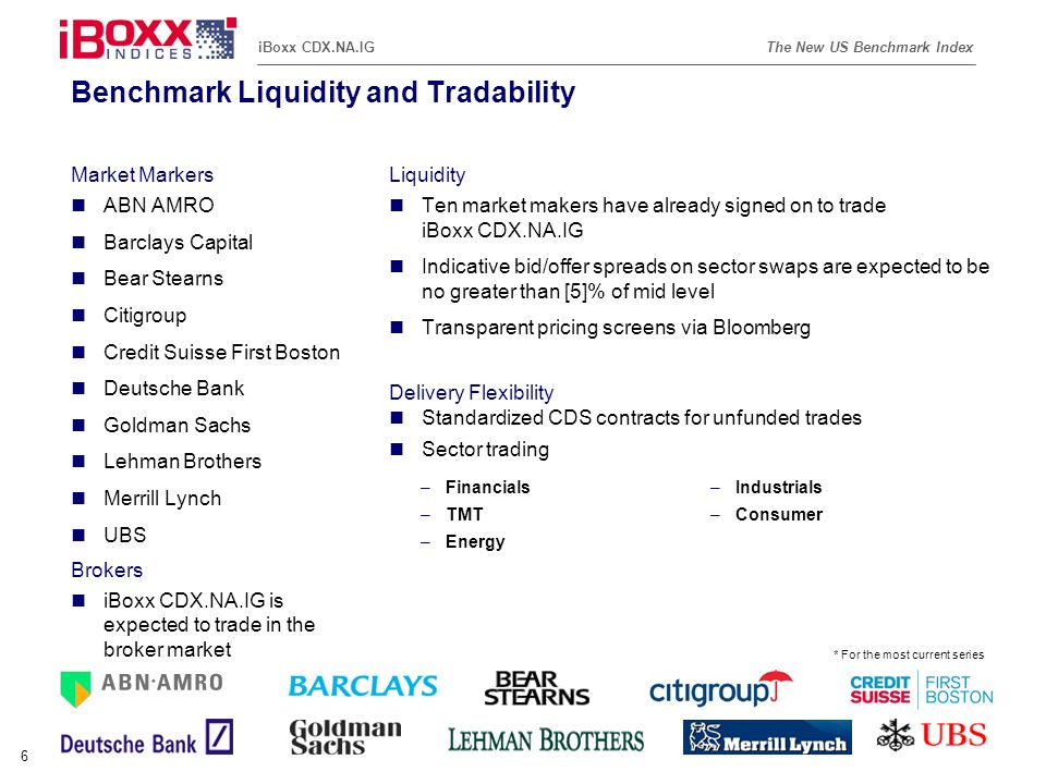 Benchmark Liquidity and Tradability