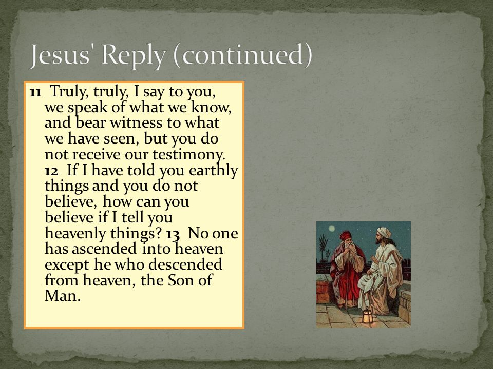 Jesus Reply (continued)