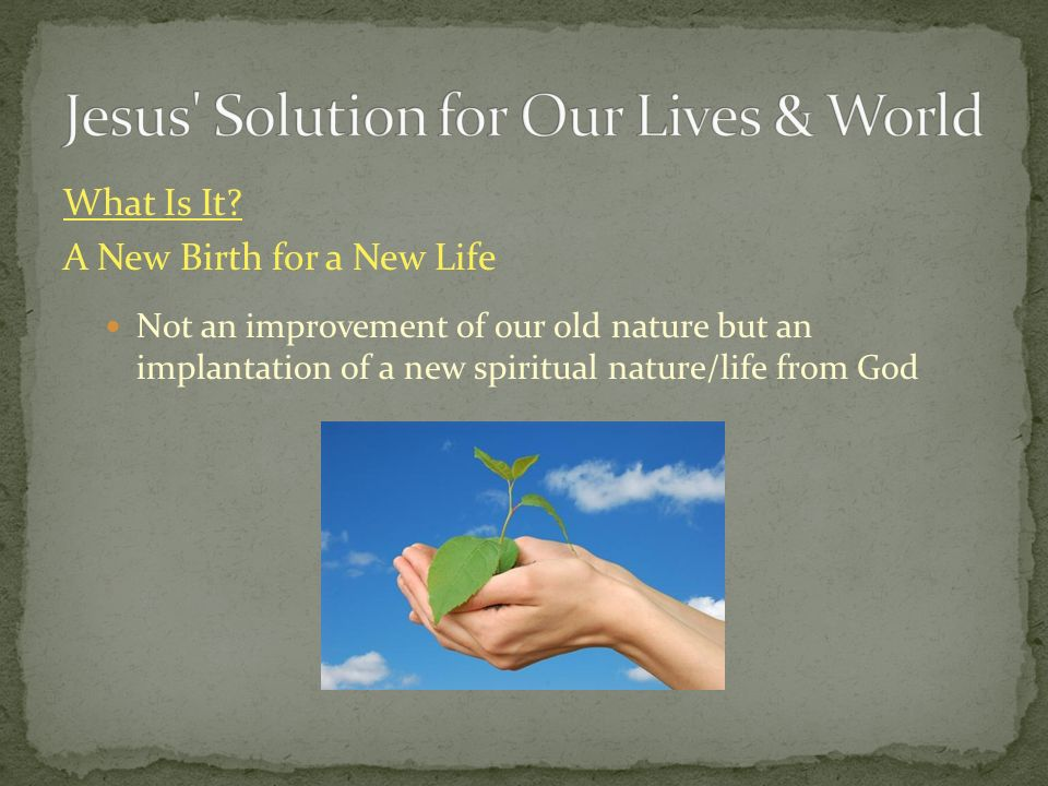 Jesus Solution for Our Lives & World