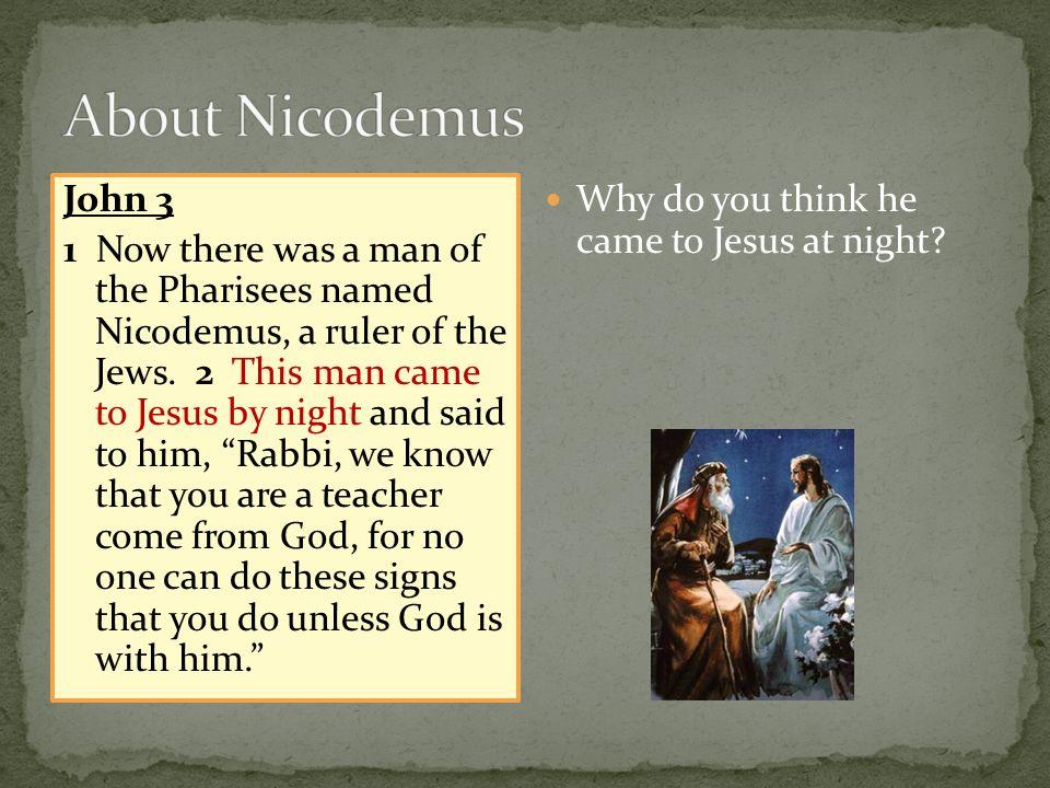 About Nicodemus