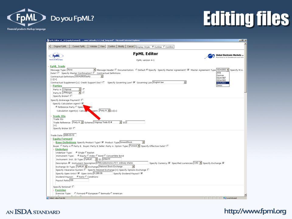 Editing files