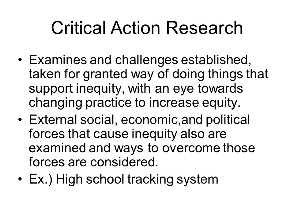 action research critical thinking