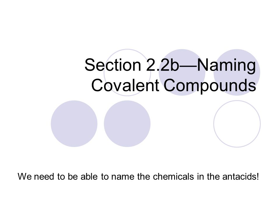 Chapter 2A Antacids ppt download – Naming Covalent Compounds Worksheet