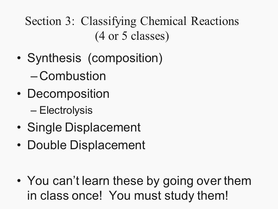 Classifying chemical reactions worksheet answers page 45