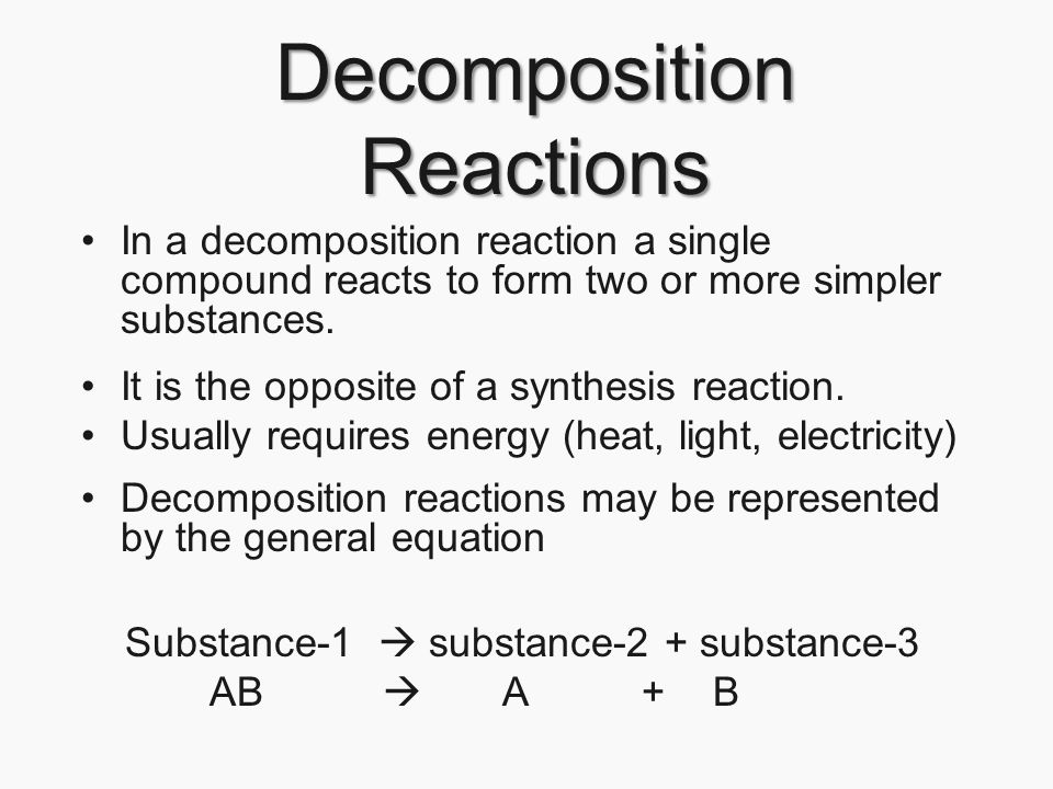 Chapter 21 Chemical Reactions Page ppt download – Synthesis and Decomposition Reactions Worksheet