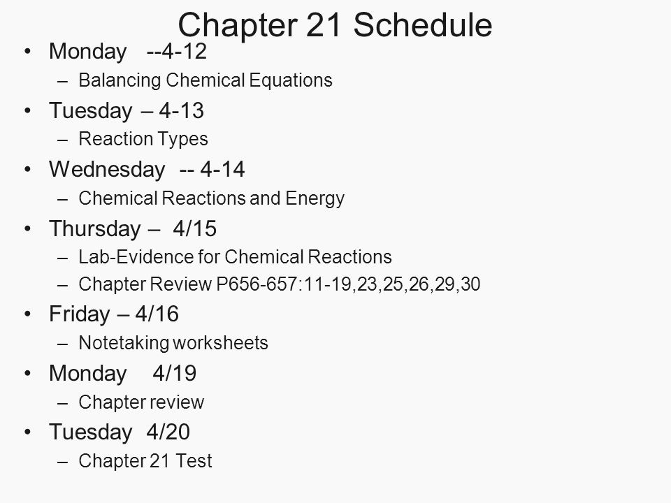 Chapter 21 Chemical Reactions Page ppt video online download – Note Taking Worksheets