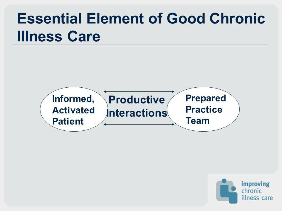 Essential Element of Good Chronic Illness Care