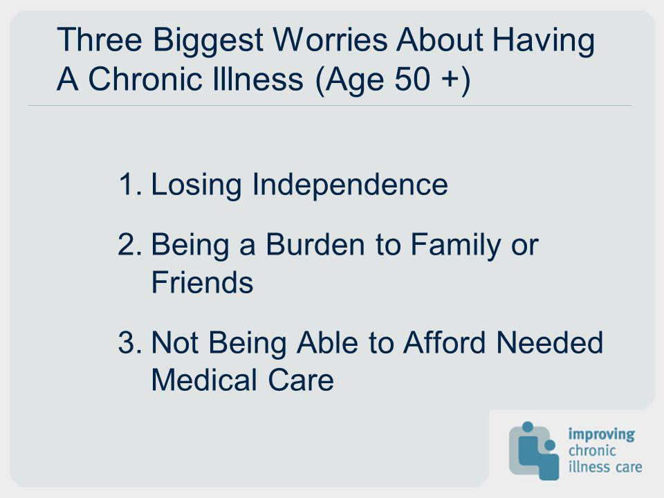 Three Biggest Worries About Having A Chronic Illness (Age 50 +)