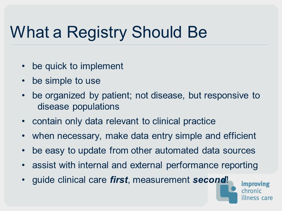 What a Registry Should Be