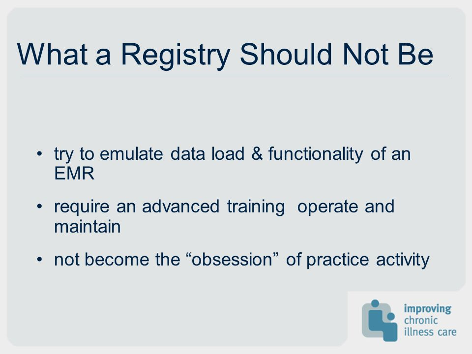 What a Registry Should Not Be