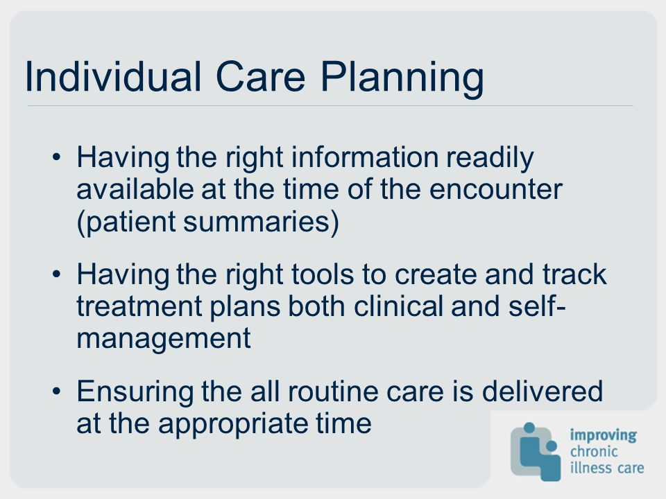 Individual Care Planning
