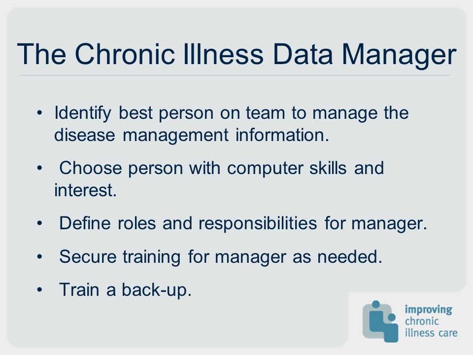 The Chronic Illness Data Manager