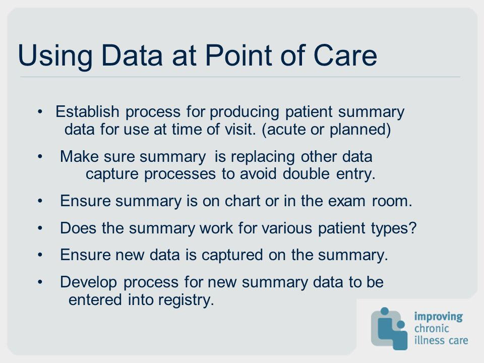 Using Data at Point of Care