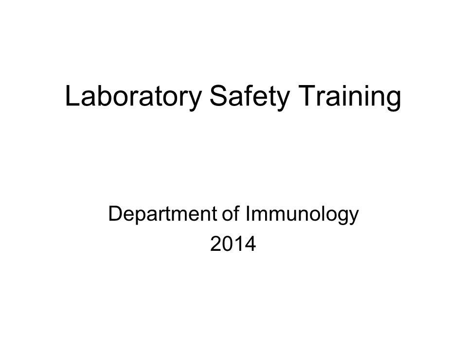 Laboratory Safety Training