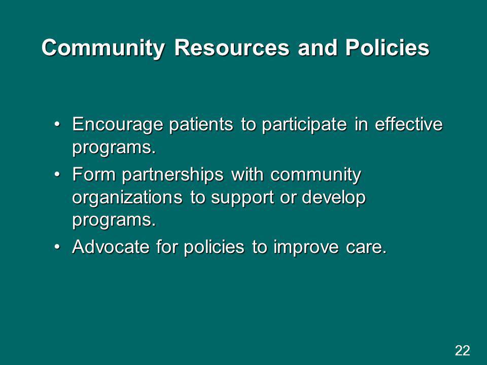 Community Resources and Policies