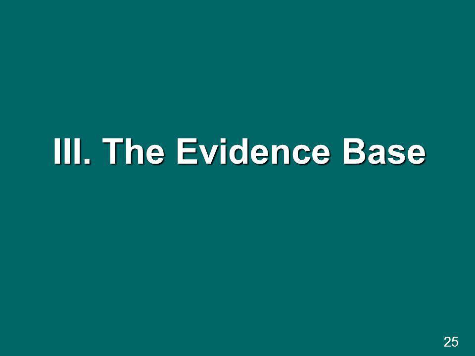 III. The Evidence Base