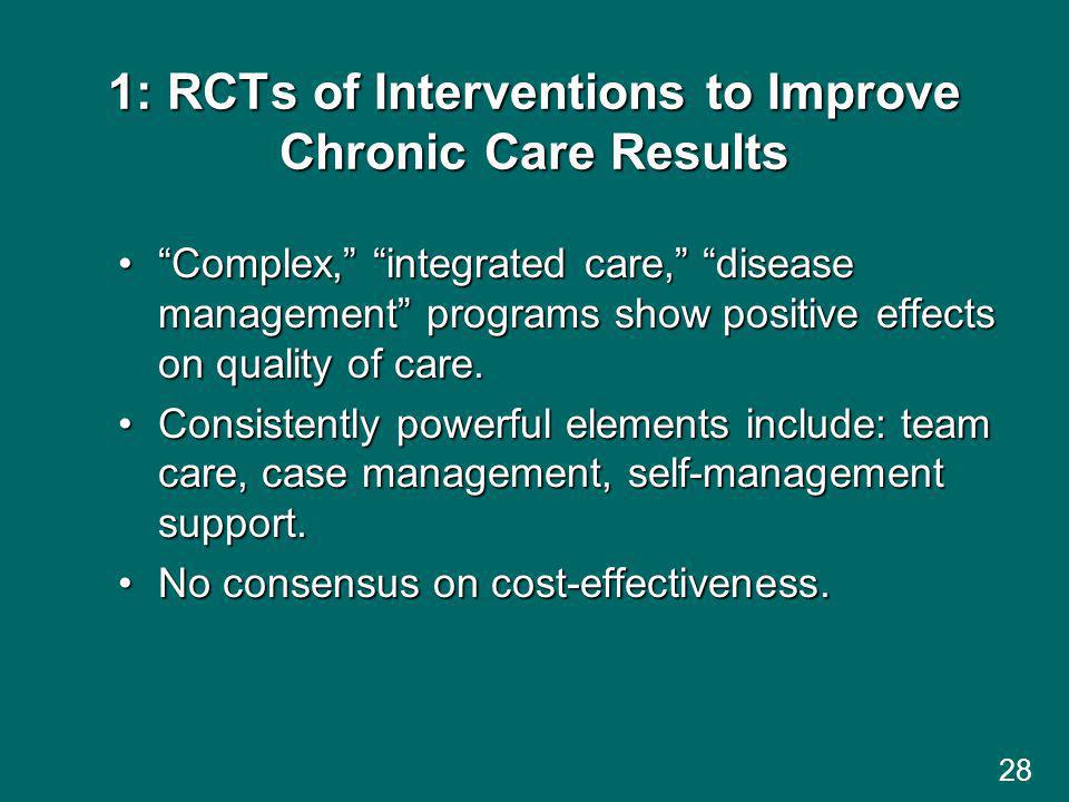 1: RCTs of Interventions to Improve Chronic Care Results