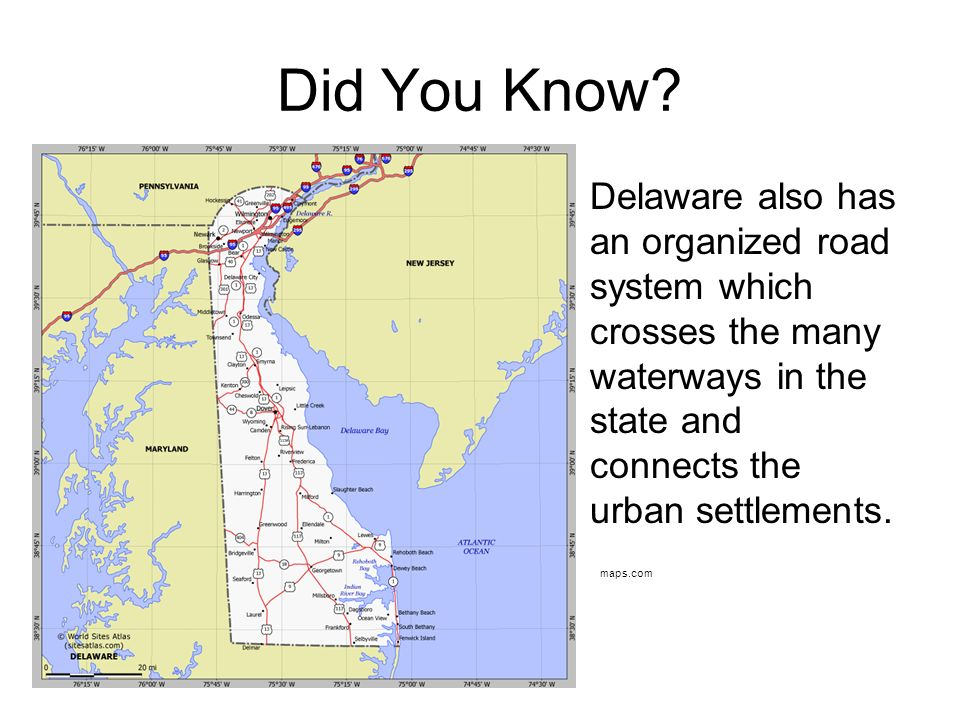 Maps Help Us Get To Know Delaware Ppt Download - Delaware on us map