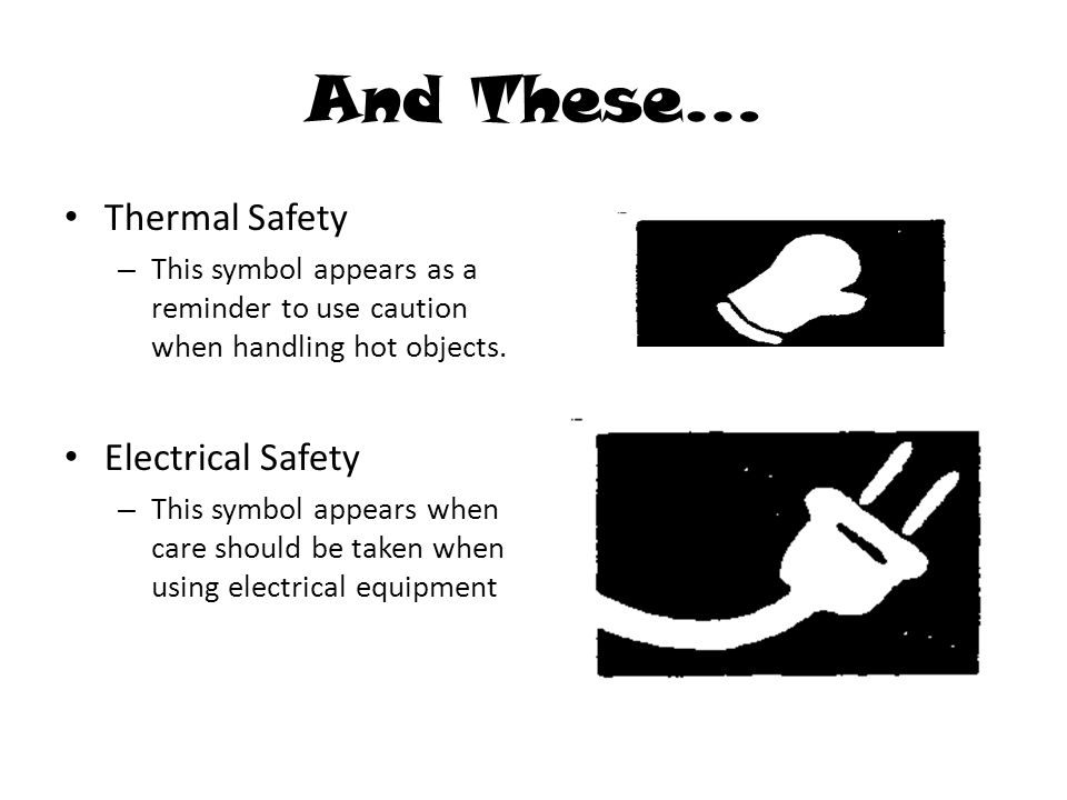 Thermal Safety Symbol More Information