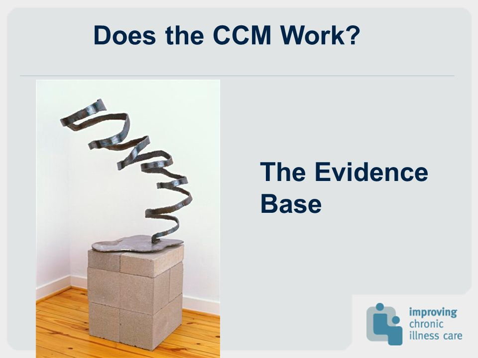Does the CCM Work The Evidence Base