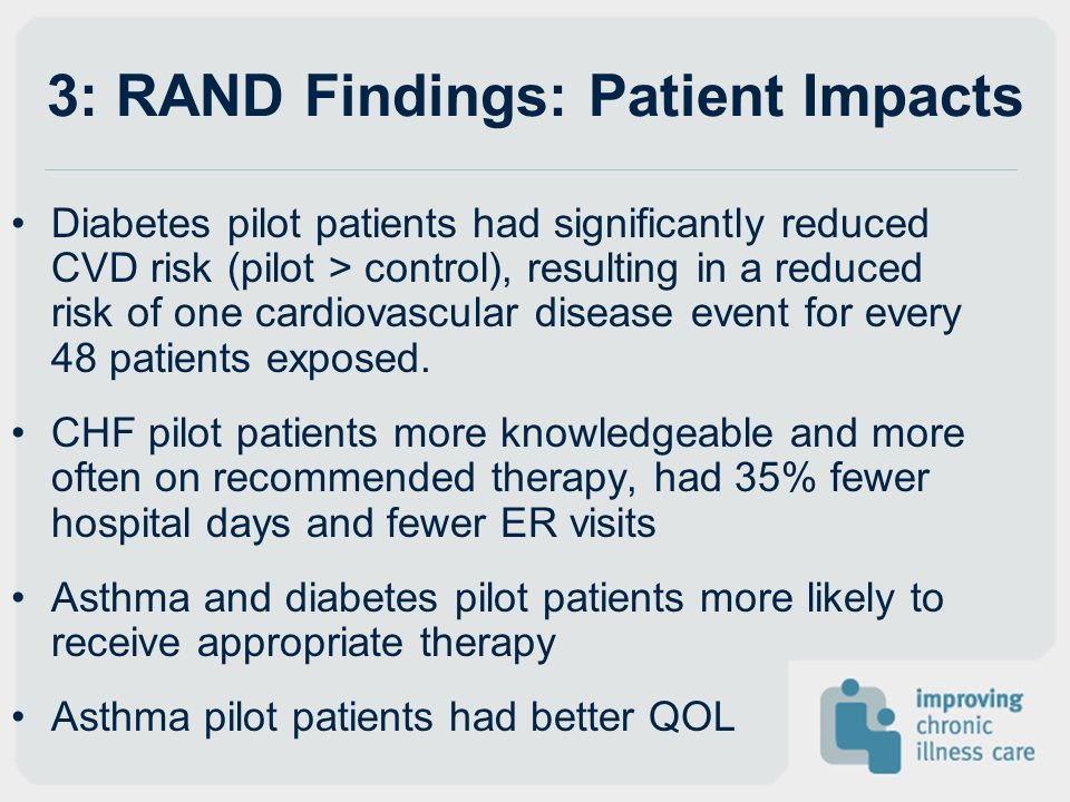 3: RAND Findings: Patient Impacts
