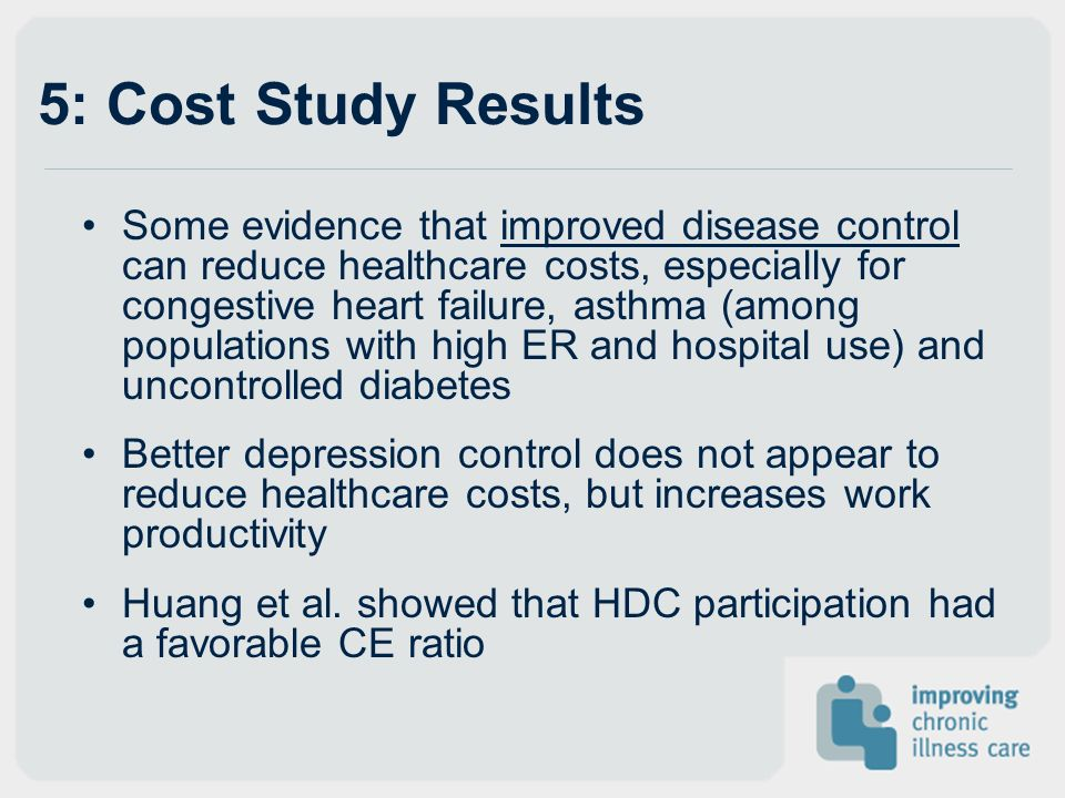 5: Cost Study Results