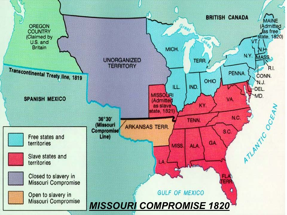 The missouri compromise attempted to