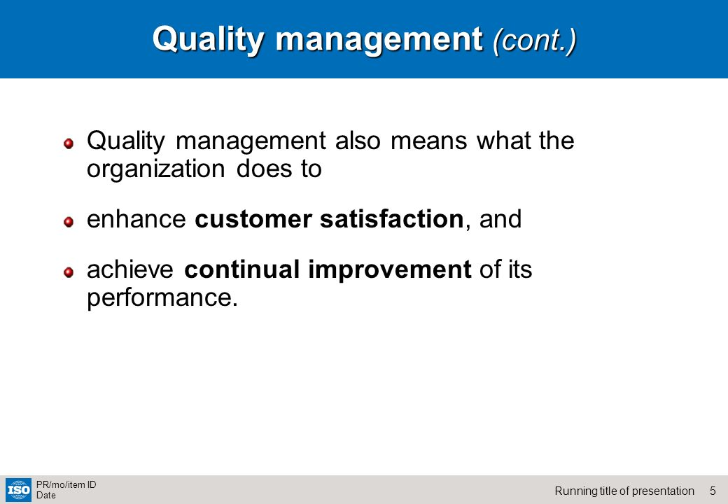 quality management organization For organisations looking to improve their performance, these principles will guide your quality management programme in the right direction.