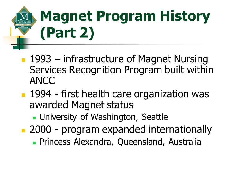 Magnet Program History (Part 2)