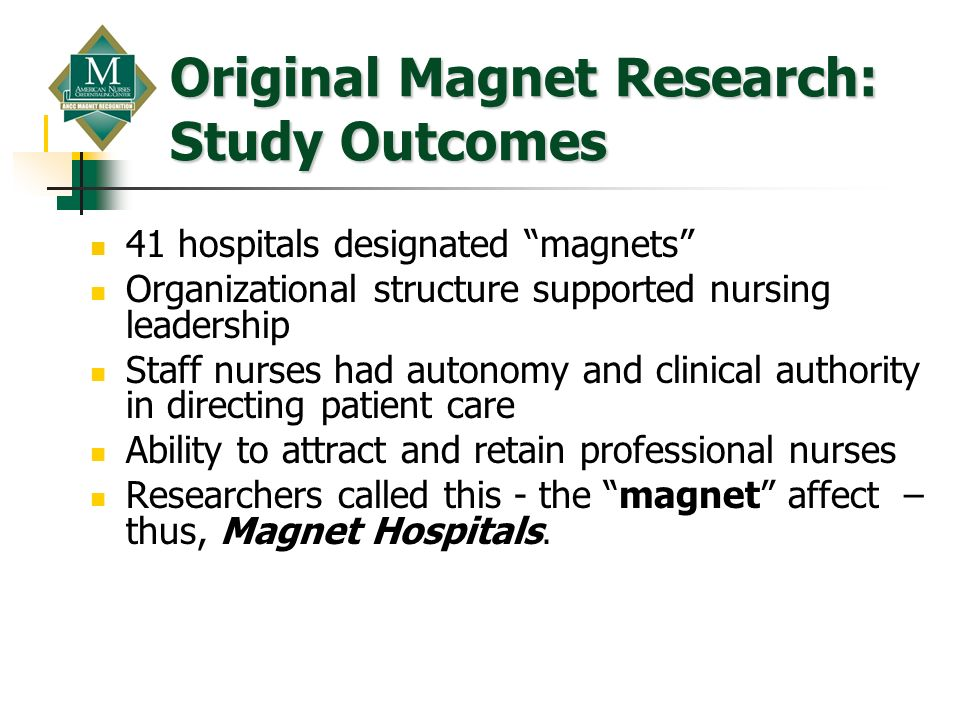 Original Magnet Research: Study Outcomes