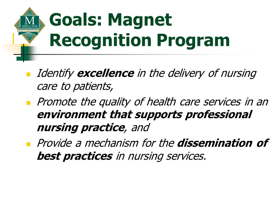Goals: Magnet Recognition Program