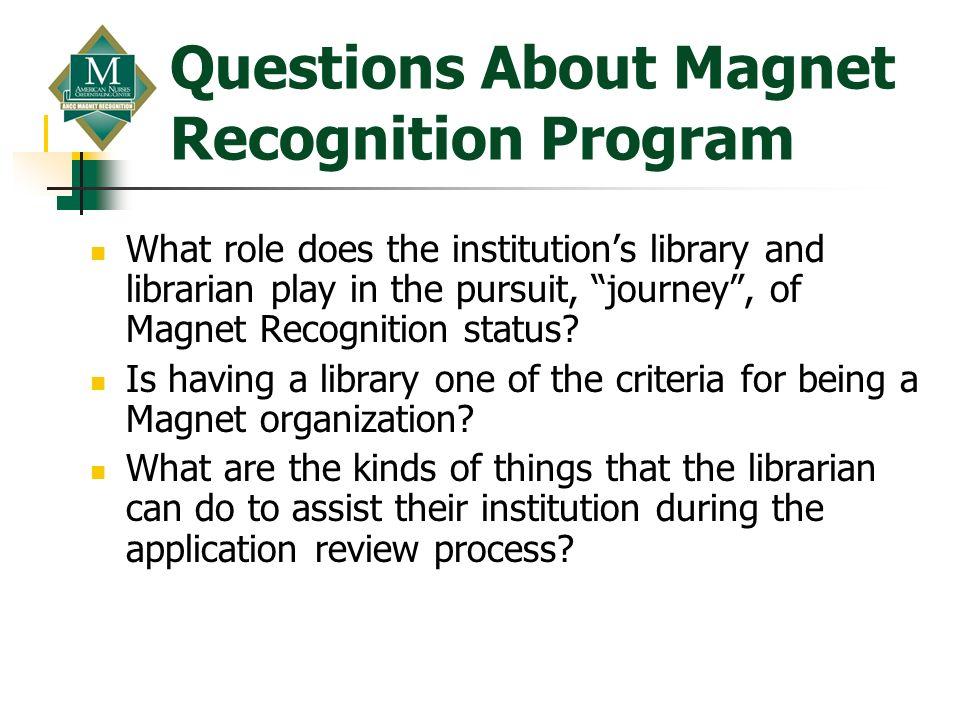 Questions About Magnet Recognition Program