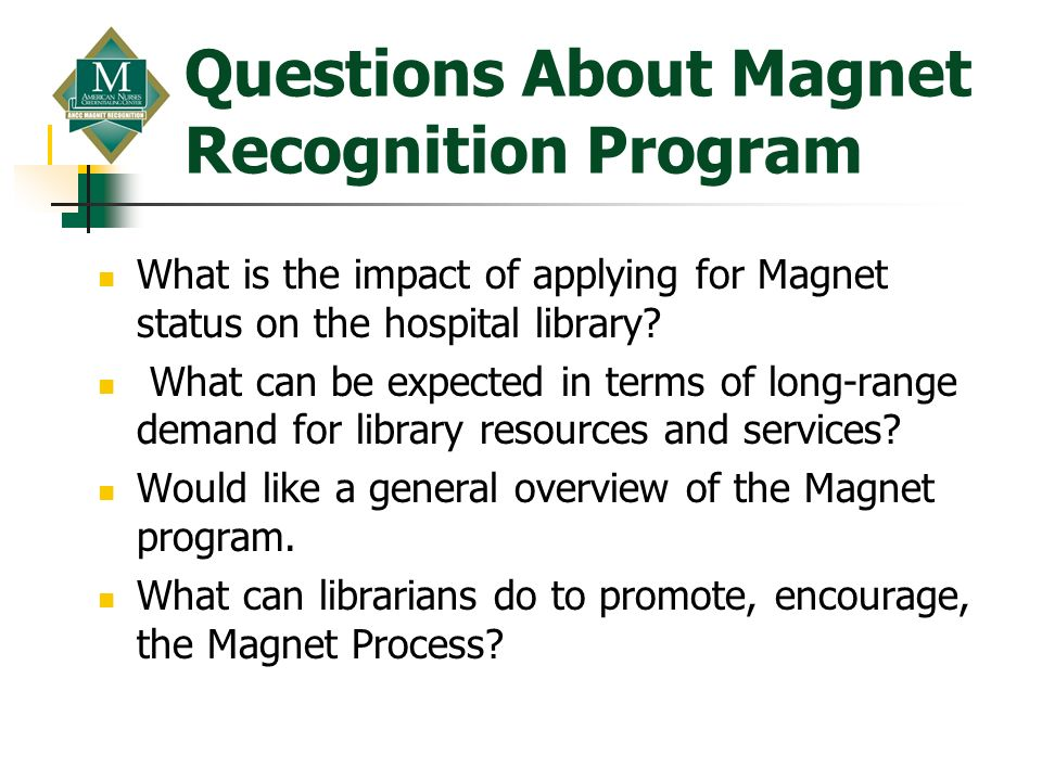 Questions About Magnet Recognition Program