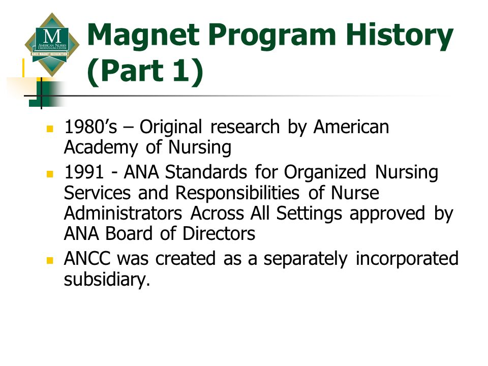 Magnet Program History (Part 1)