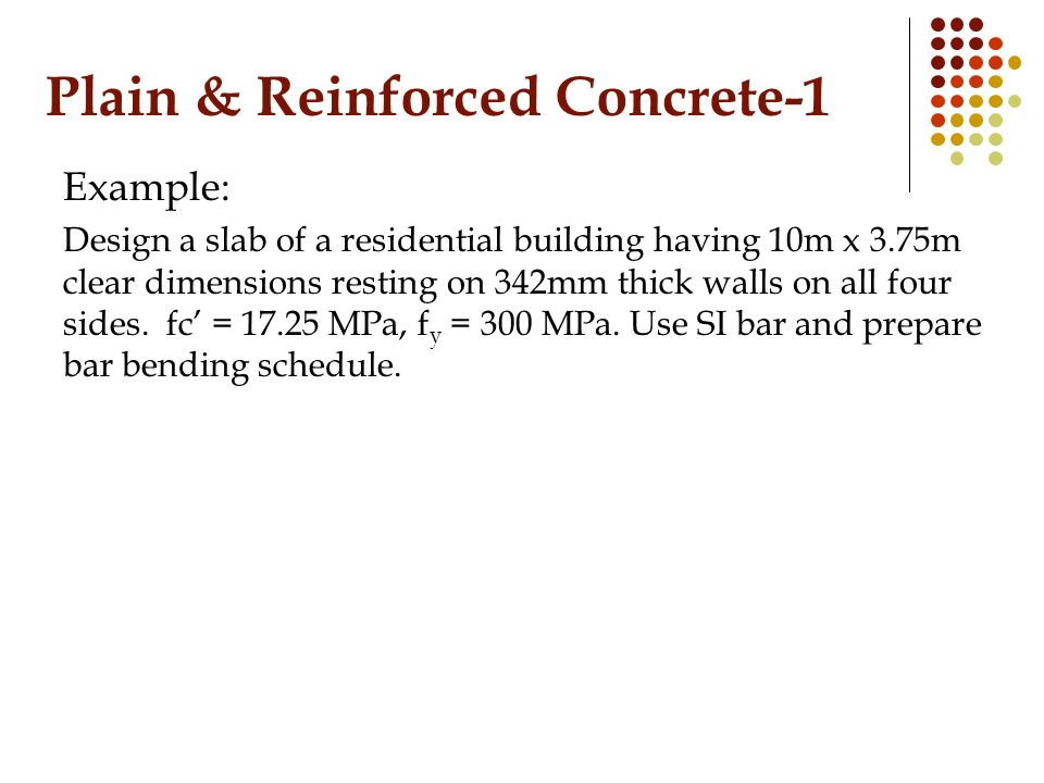 Reinforced Concrete Wall Design Example 1120 reinforced concrete strip design conditions Plain Reinforced Concrete 1