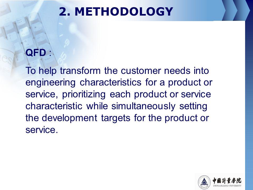 2. METHODOLOGY QFD :