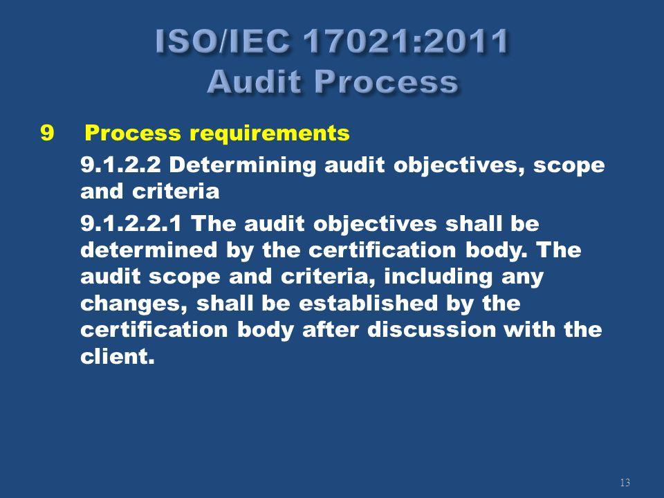 ISO/IEC 17021:2011 Audit Process