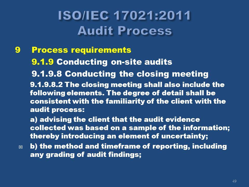 ISO/IEC 17021:2011 Audit Process