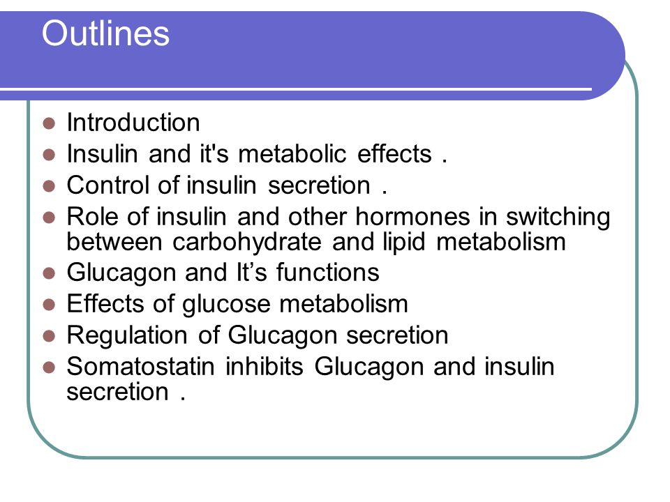 relationship between carbohydrate and lipid metabolism