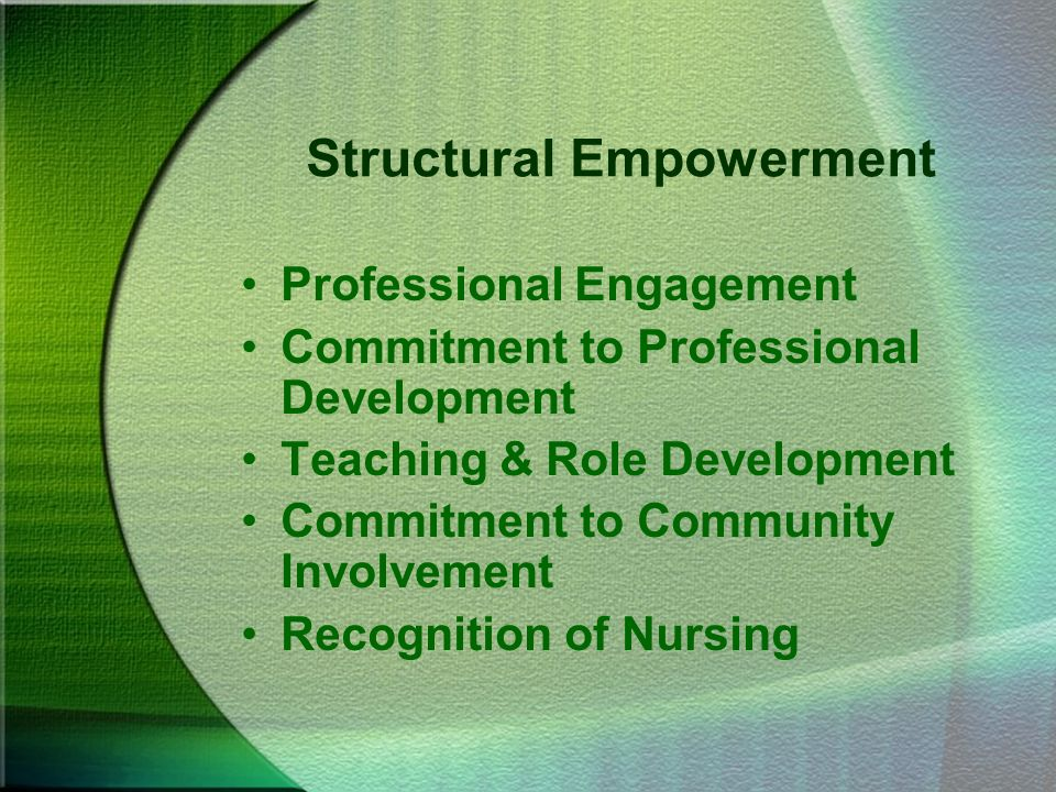 Structural Empowerment