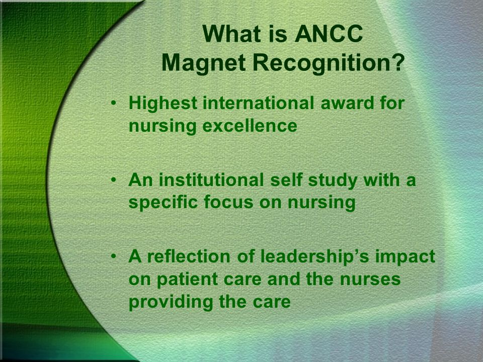What is ANCC Magnet Recognition