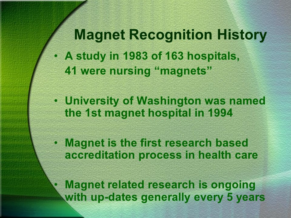 Magnet Recognition History