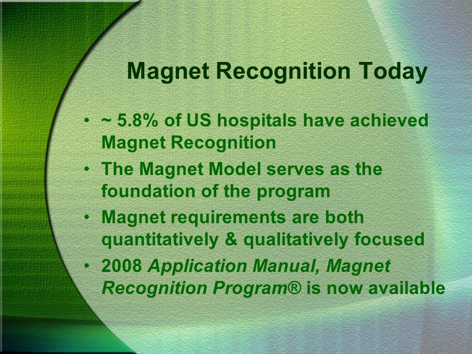 Magnet Recognition Today