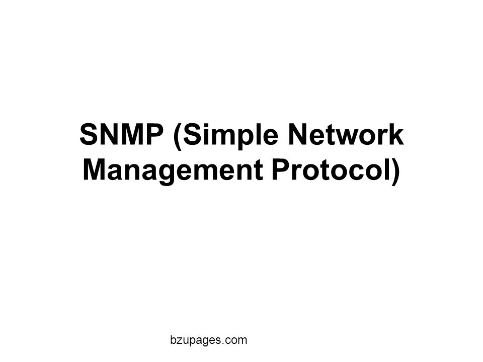 simple network management protocal The network management protocol snmp (simple network management protocol) is a udp-based network protocol that is used to monitor network devices for conditions that require the attention of an administrator.