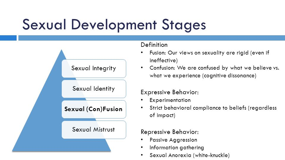sexual development stages
