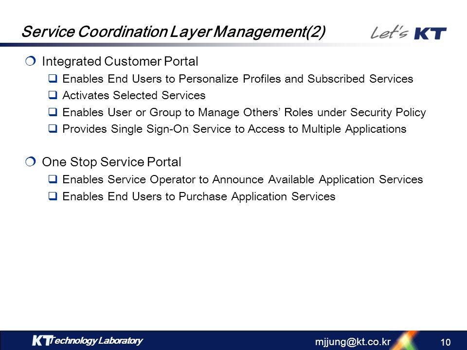 Service Coordination Layer Management(2)