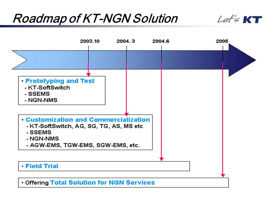 Roadmap of KT-NGN Solution