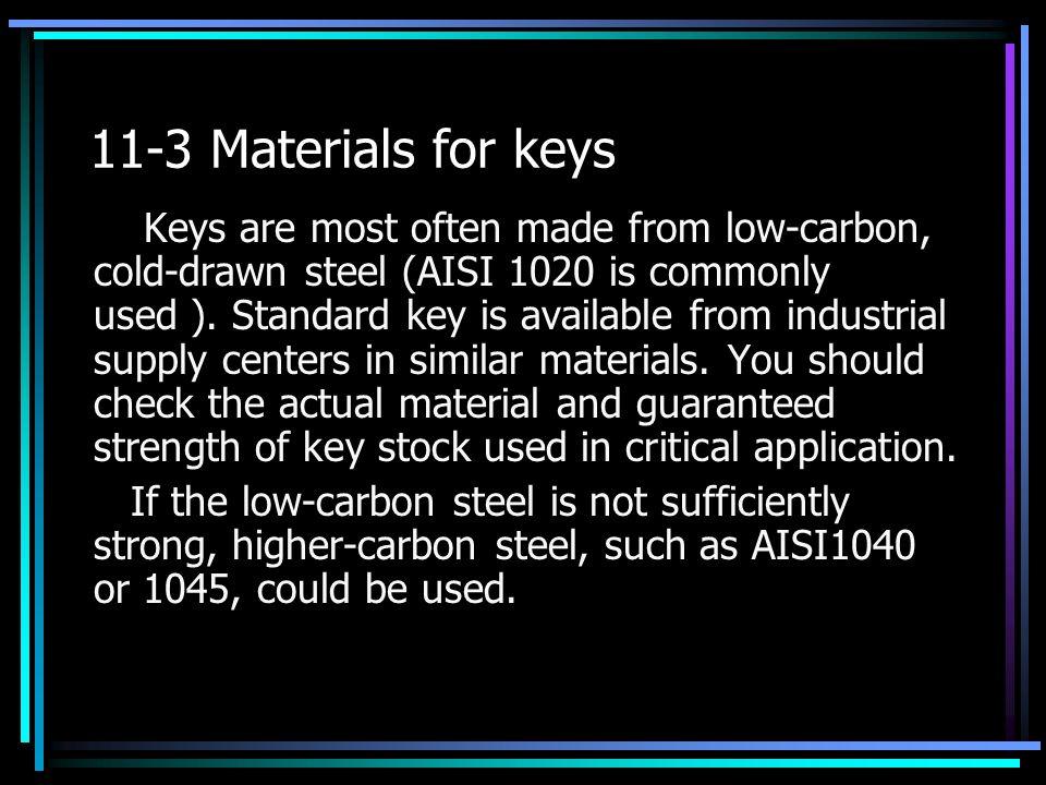 11-3 Materials for keys