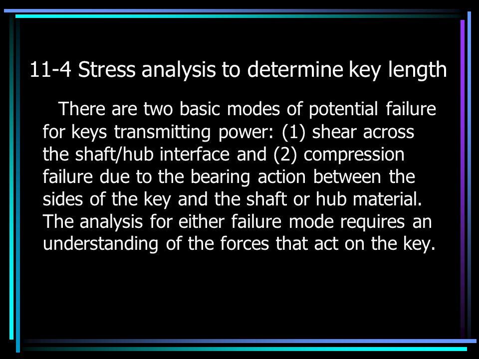 11-4 Stress analysis to determine key length