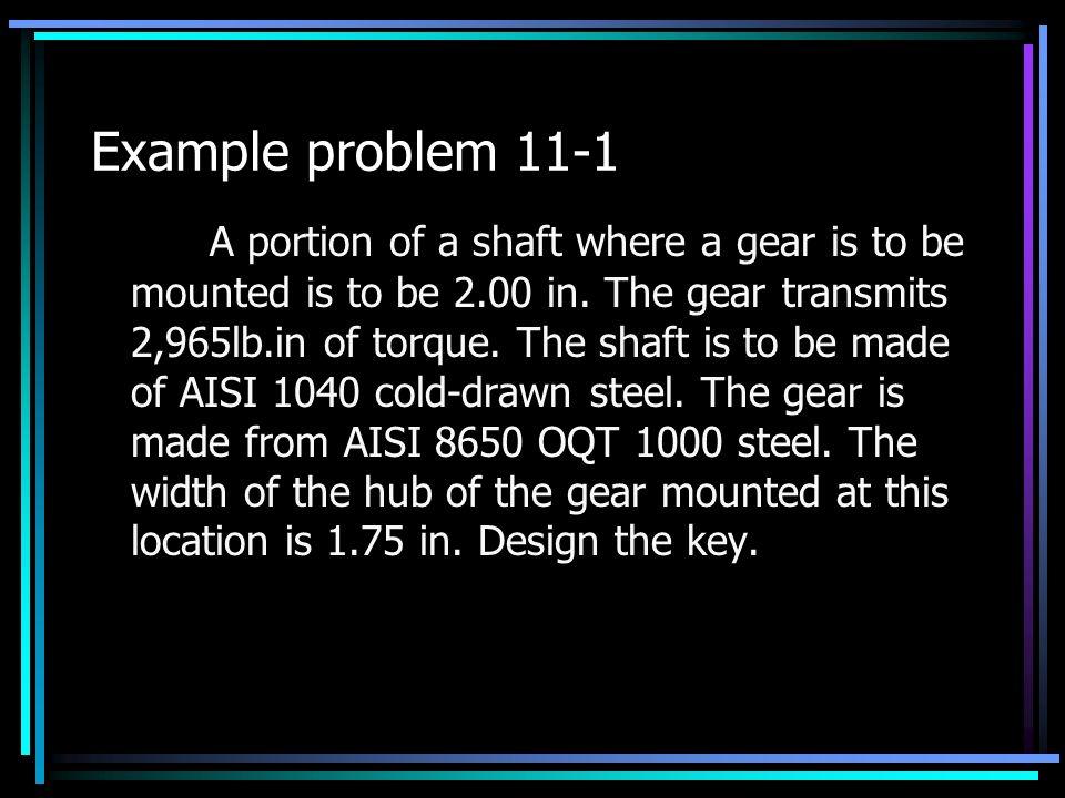 Example problem 11-1